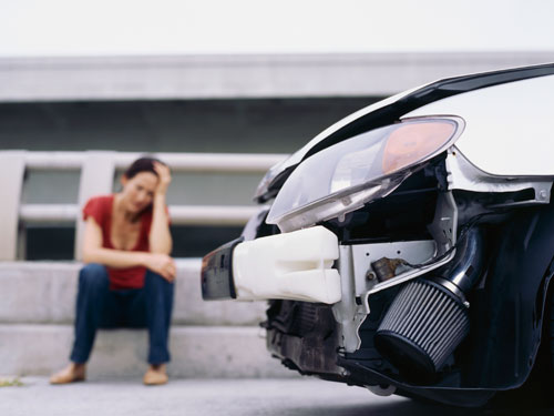 red-woman-car-accident-insurance